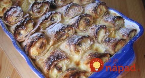 Palacinkový pekáč s vanilkovou omáčkou: U nás doma jednoznačne najobľúbenejší obed na sladko, deti sa nevedia dojesť!