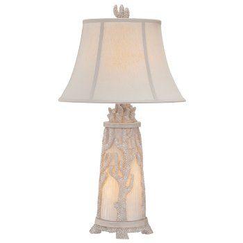 Sea Coral Night Light Table Lamp �New designer coastal lamp.  Sea coral decorates the base of the night light table lamp.   33