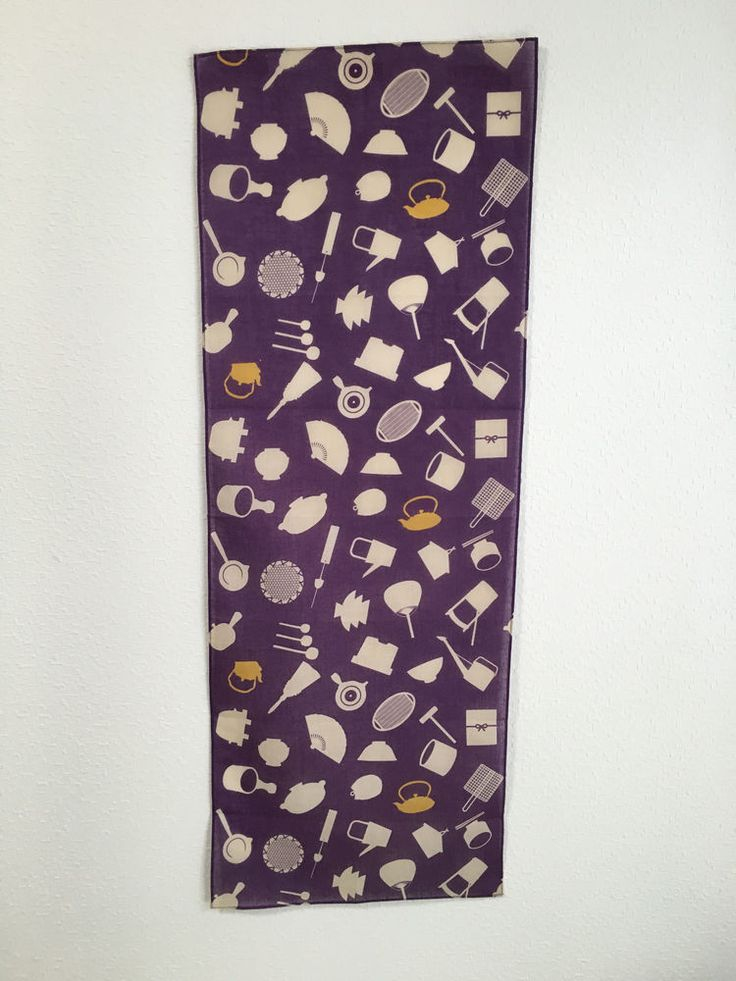 Japanese Style Cotton Towel Japanese Tools Goods Tapestry Textile Purple | eBay