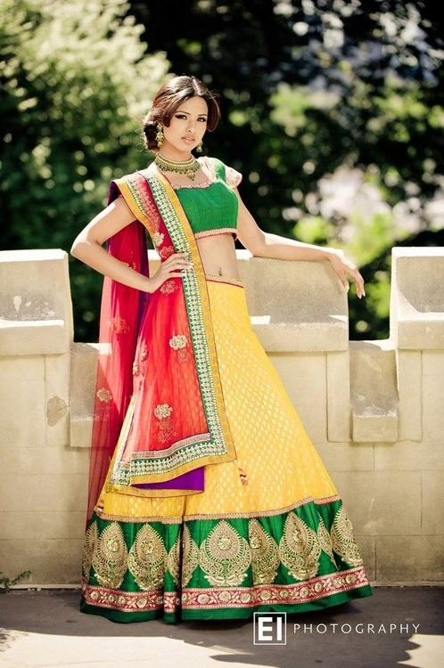 Indian Weddings.... i love the colors the yellow and green design is very lovely