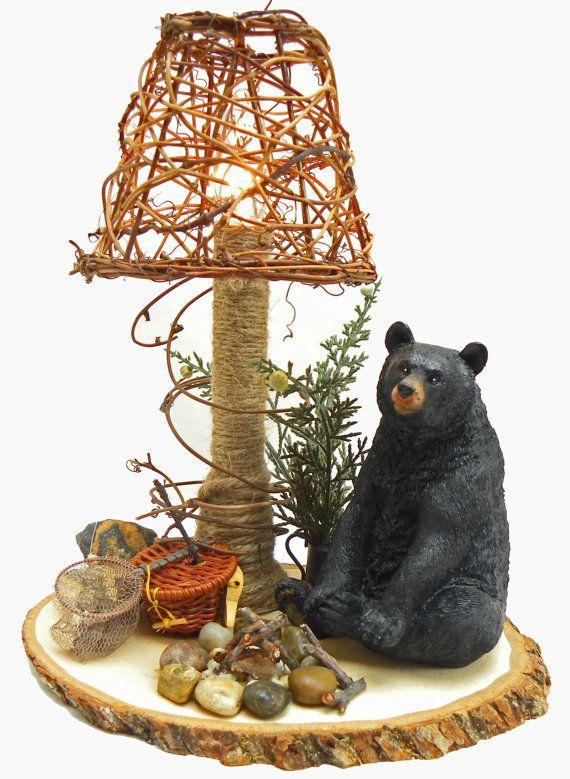 474 best mom 39 s bear hugs cabin images on pinterest for Rustic bear home decor