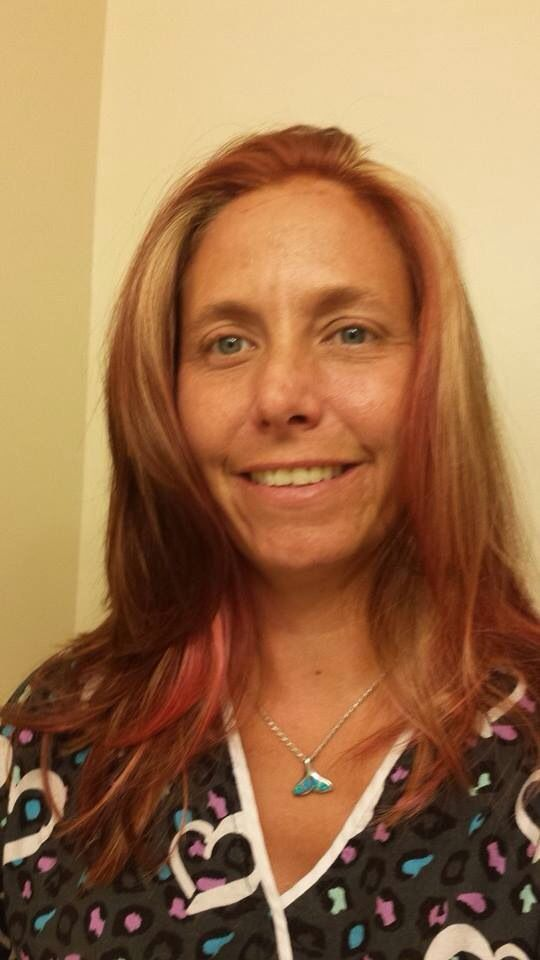 Copper Color Over Pink And Blonde Highlights Hair Color