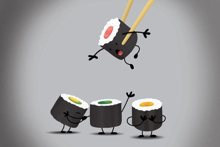 Смешные картинки про суши, крещением