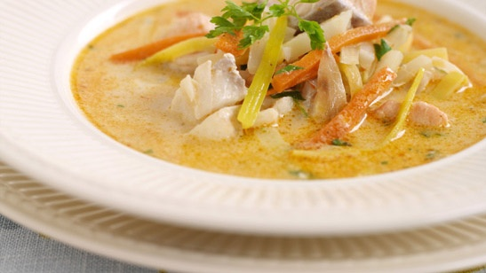 Creamed fish soup.