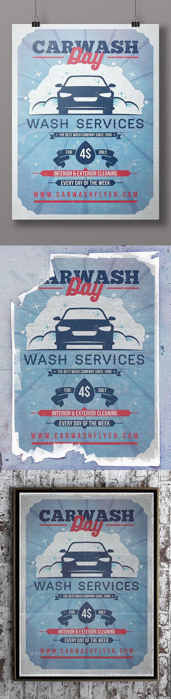 Car Wash Flyer Template PSD. Download here: http://graphicriver.net/item/car-wash-flyer-template/16141693?ref=ksioks