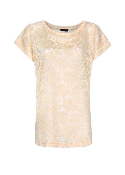 Open work metallic t-shirt
