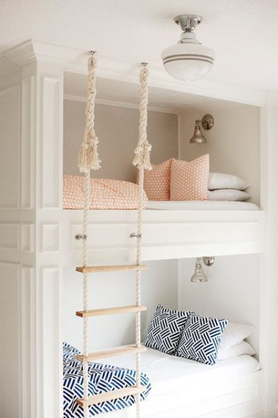 Beautiful bunk beds for sisters or siblings sharing a room