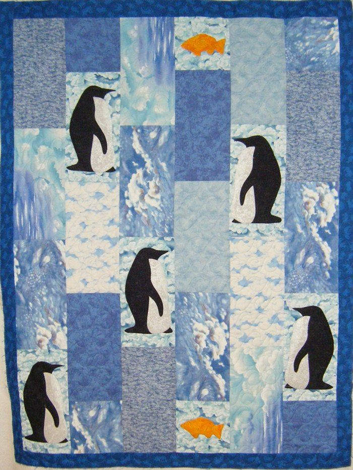 36 Best Applique Pengiun Images On Pinterest Quilting