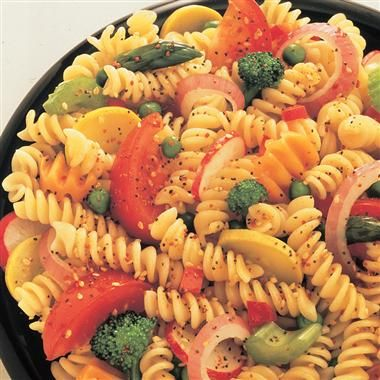 Pasta-Salad-Vinaigrette--making this for the party, too.  Will do this version and also one with spinach, feta and black olives.  Another easy crowd pleaser