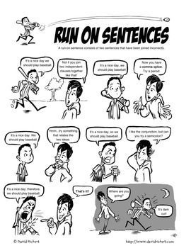 Run-On Sentences: A Comic Lesson with Activities!