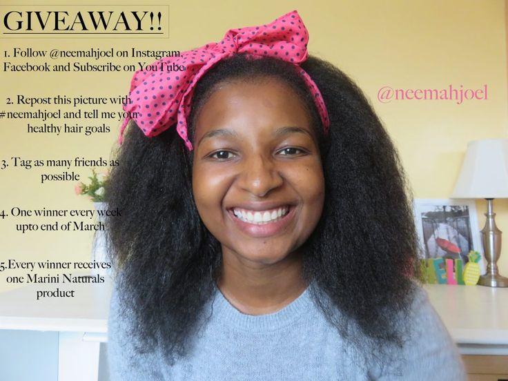 Giveaway!!!! Natural Hair find more details on Neemahjoel.com