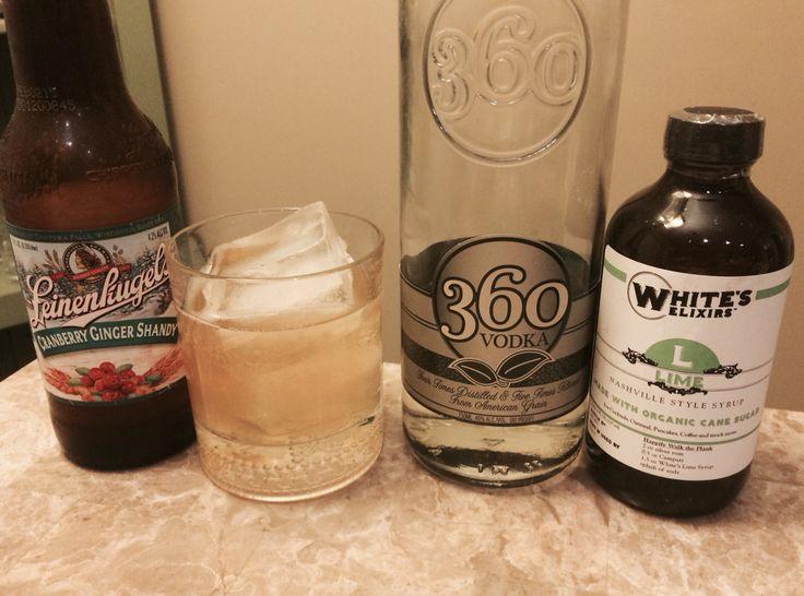 Oooh Shandy, My Love - 2 oz vodka, 1 oz White's Elixirs Lime, 4 oz Shandy #whiteselixirs, #whiteselixology