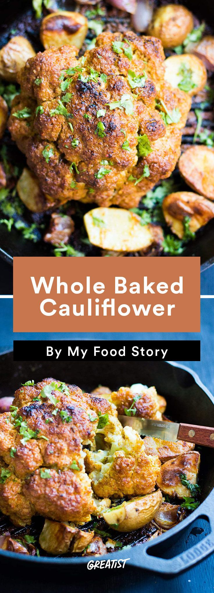 4. Whole Baked Cauliflower #healthy #indian #food http://greatist.com/eat/indian-recipes-that-are-easy-to-make-at-home