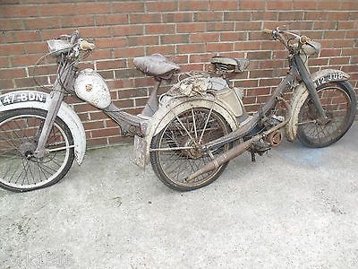 Barn Find 2 x NSU Quickly s Moped RARE collectable classic ...