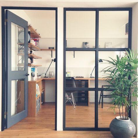 a.ONOさんの、シェルチェア,シュロチク,リノベーション,インダストリアル,男前,ガラス,My Desk,のお部屋写真