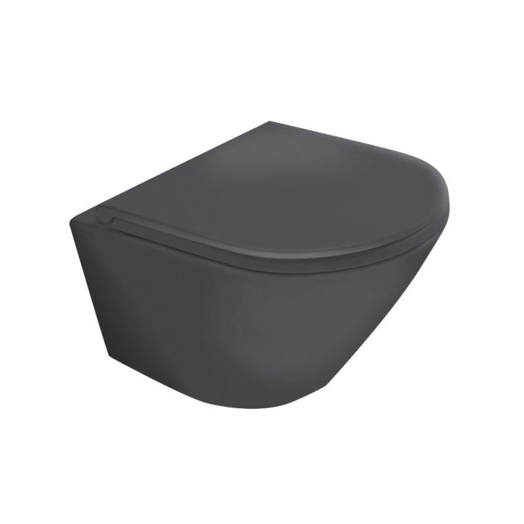 Globo FORTY3 Wand-WC L: 52 B: 36 cm schwarz matt