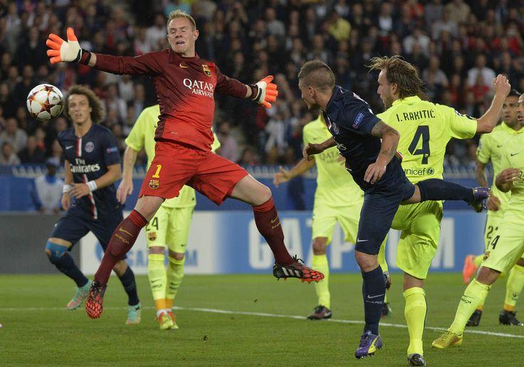 26e - Verratti trompe Ter Stegen de la tête sur corner et redonne l'avantage au PSG.