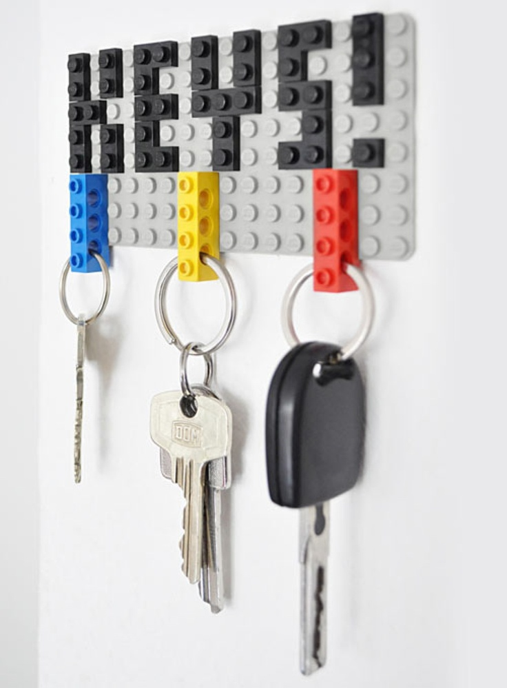 Never loose your keys again! This DIY project adds a literal flair to your hallway or mudroom.