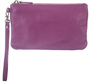 Chic Tech Leather Wristlet with 4000 mAh Cell Phone Charger, qvc