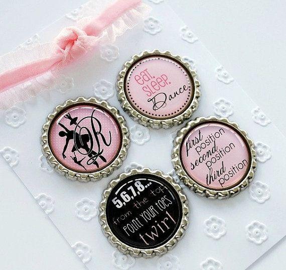 Personalized Dance Teacher Gift - Ballet Magnet Set, Ballerina, Recital Gift, Birthday Gift, Teacher Appreciation Gift, Thank You Gift
