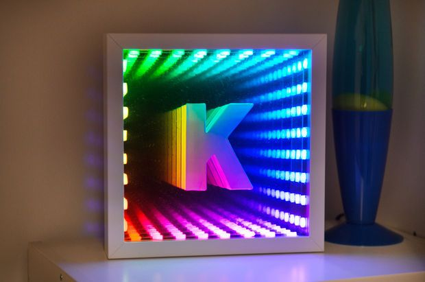 DIY extreme light craft: IKEA Infinity Tunnel Mirror. Radical.