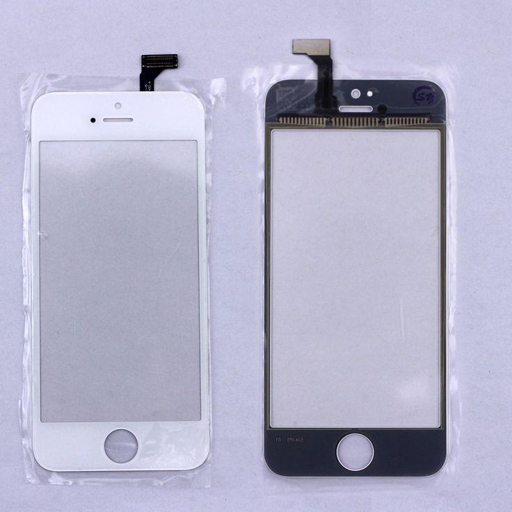 Barato Negro/Blanco Pantalla Táctil Digitalizador Pantalla Del Panel Frontal lente de cristal para iphone 5 5g accesorios de telefonía móvil libre gratis
