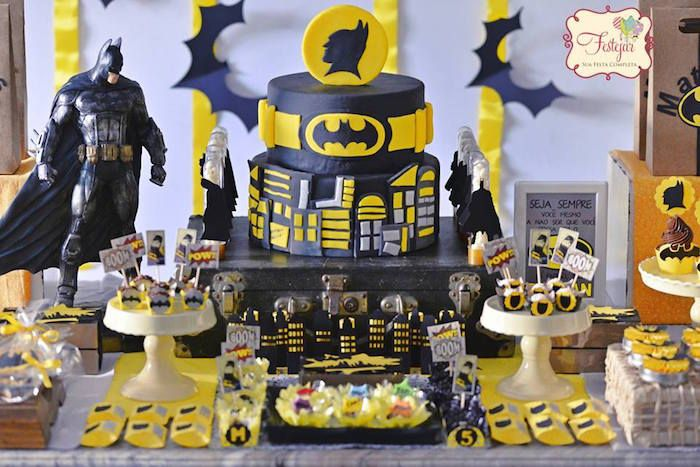Batman Birthday Party via Kara's Party Ideas | KarasPartyIdeas.com (15)
