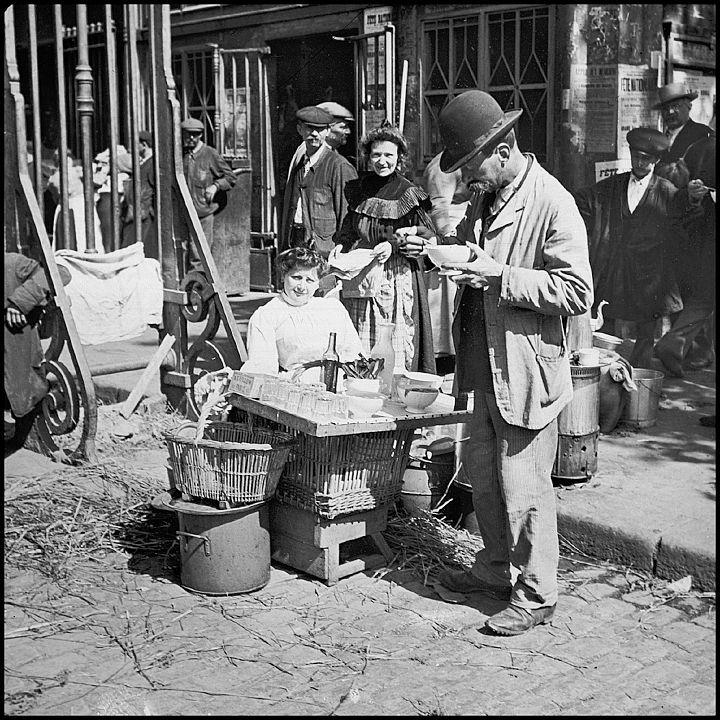 vieux metiers de Paris, 1900.marchande-de-soupe