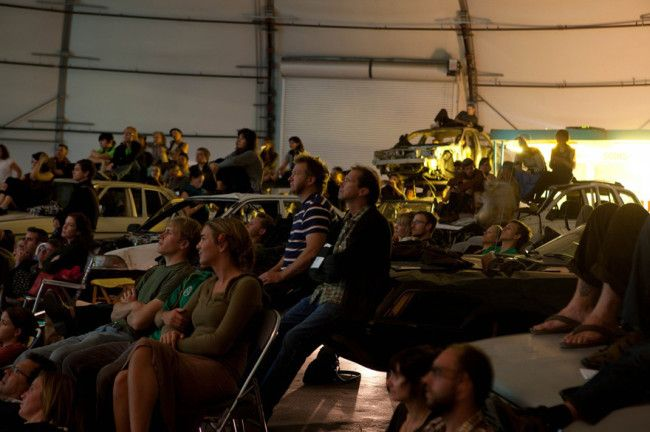 Brooklyn-based artists Jeff Stark and Todd Chandler are the ones behind Empire Drive-In, a drive-in movie theater complete with viewing seats repurposed from junkyard cars. Now, this is a drive-in theater you can walk into. The theater installation now makes its rounds at festivals and events such as the 2012 Abandon Normal Devices Festival in […]