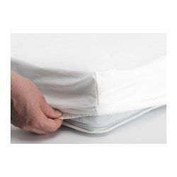 LEN Fitted sheet for cot, white - 60x120 cm - IKEA