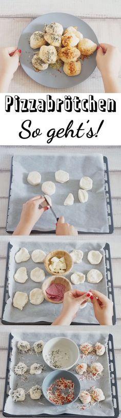 Gefüllte Pizzabrötchen sind schnell und einfach gemacht. Sie passen perfekt auf jedes Partybuffet, in den Picknickkorb oder zu einem gemütlichen Fernsehabend auf dem Sofa.