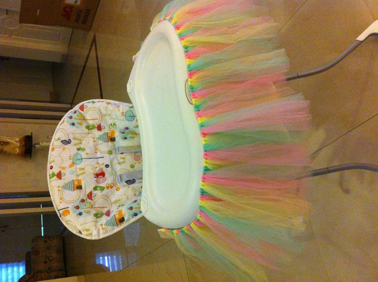 Highchair tutu for Laura's 1st birthday