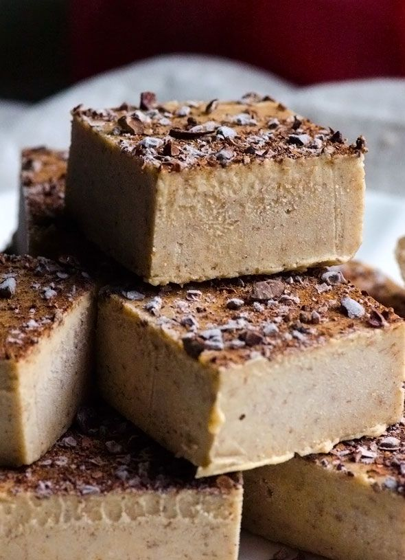Clean Eating Gingerbread Fudge - Holiday fudge without condensed milk or sugar. Wholesome ingredients for no regrets January.