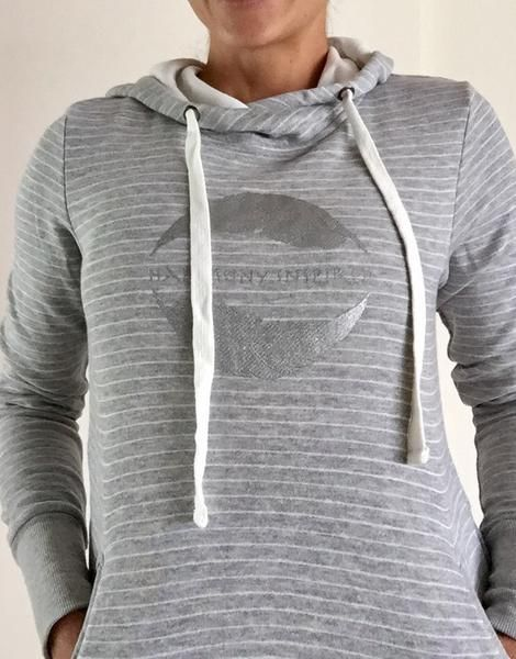 Harmony Inspired Silver and Stripes Hoodie