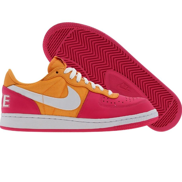 4ce71c4d4c28 Nike Womens Terminator Low (vivid pink   white   light melon) 308863-611