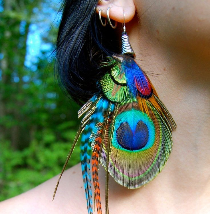 BOHEMIAN GROOVE Peacock Earrings