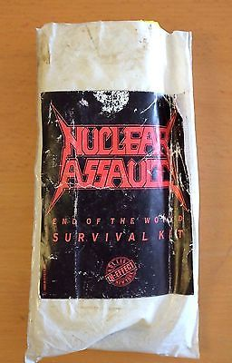 NUCLEAR ASSAULT 1989 End Of The World Survival Kit RAIN PONCHO Anthrax Slayer