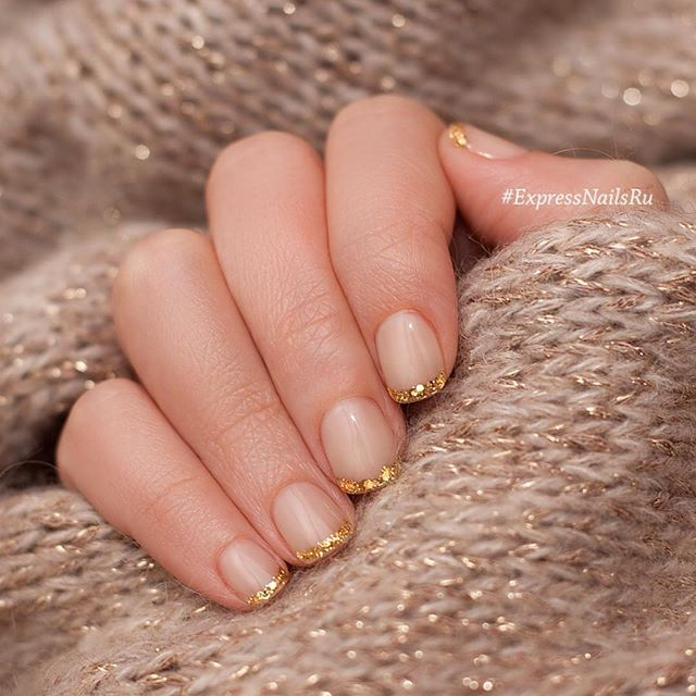 Would you like to have some romantic in the cold winter day? Use such conception of the manicure, which the ...