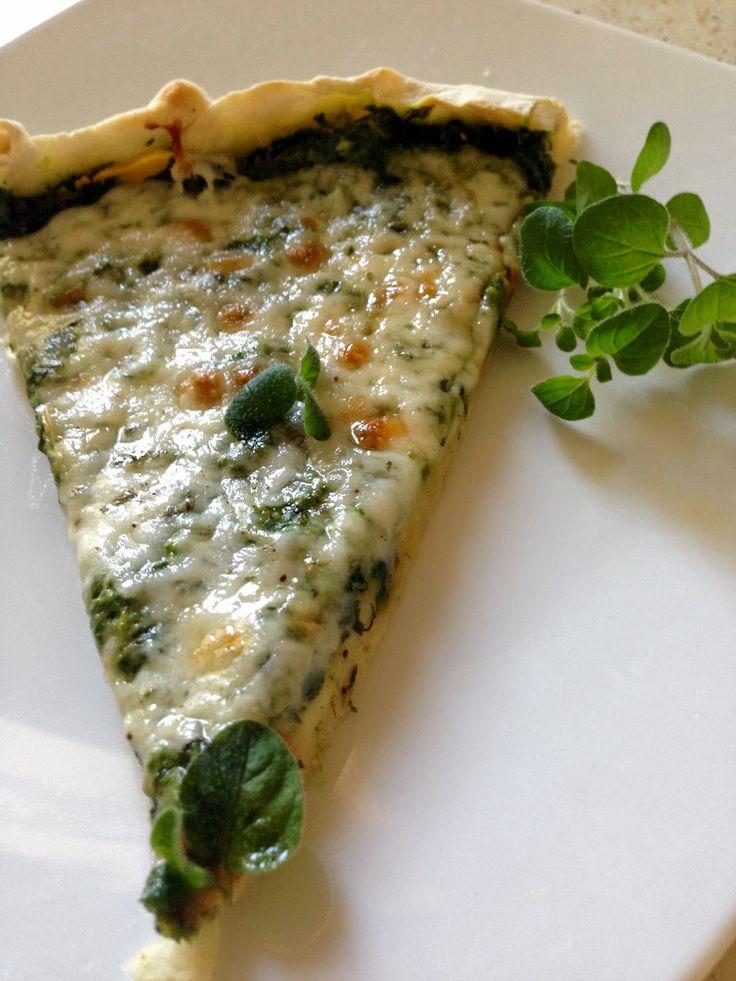 :Oszukana,błyskawiczna pizza z kozim serem i szpinakiem