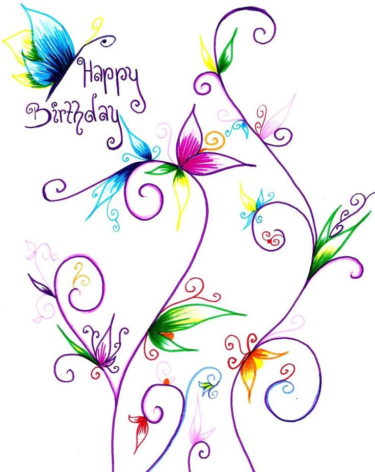 beautiful butterfly happy birthday images | Happy Birthday Ashleigh