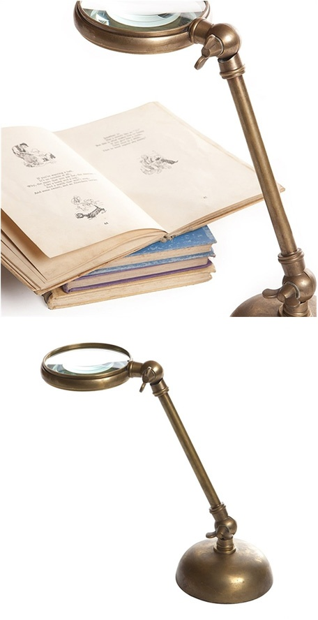 Magnifying Glass in Antique Brass, $141 (save $75)