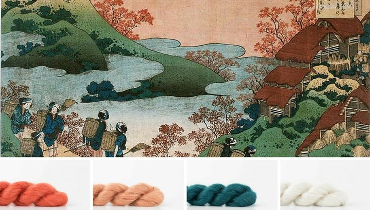 The colors of Hokusai