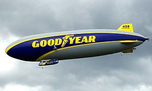 Goodyear Blimp - Goodyear Tire and Rubber Company, Akron, Ohio.