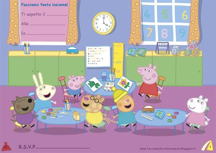 Invito di compleanno Peppa Pig  www.facciamofestainsieme.blogspot.it