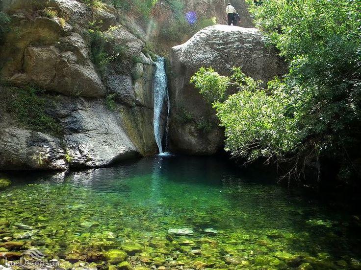Hashtarkhan Waterfall Tarom Zanjan Province In Persian