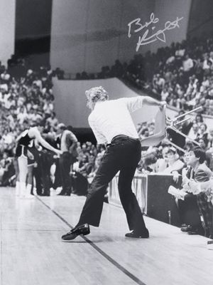Bobby Knight Indiana Hoosiers (the infamous chair toss)