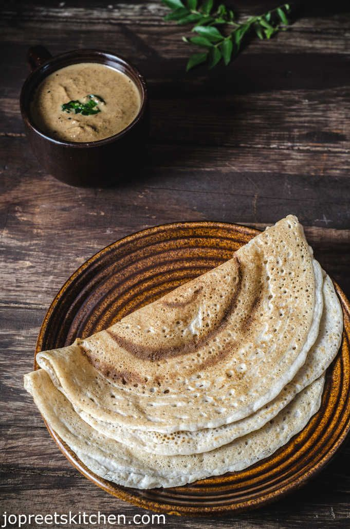 Barley & Brown Rice Dosa / Fermented Barley Crepe (filled with mushrooms brie and thyme would be great)