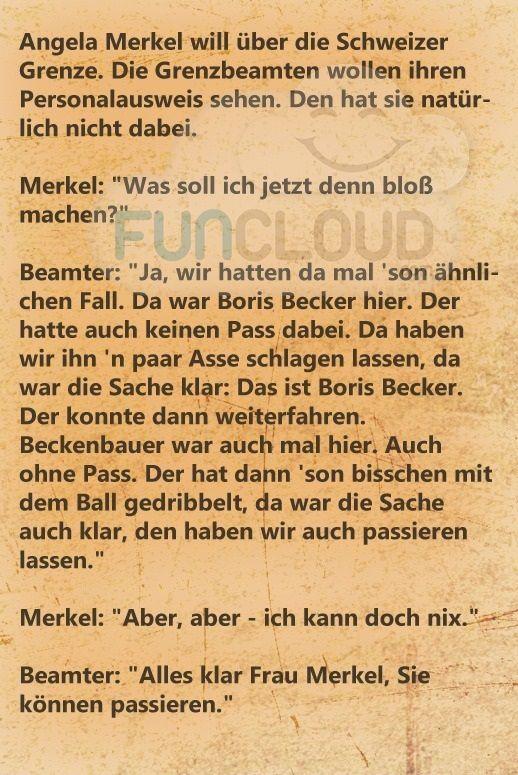 Merkel an der Schweizer Grenze - spruchwerkstatt des Tages 05.04.2016 | Funcloud