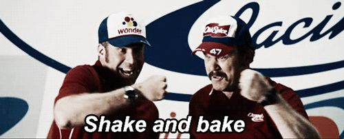 Ricky Bobby: Talladega Nights  I'm all jacked up on mt dew chip... i'ma come at chu like a spider munkee :)