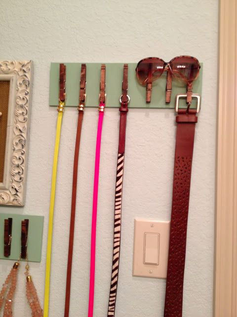I should do this for all of Lexi's belts, she has so many and can never seem to find them!